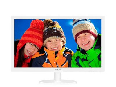 Monitor Led 21.5 Philips Led 1920 X 1080 Wide Hdmi Vga Branco
