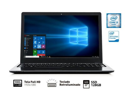 Notebook Vaio Fit 15S I3-6006U 4Gb 128Gb Ssd 15.6 Full hd W10