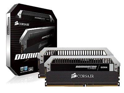Memória Desktop Gamer Ddr4 Corsair 8Gb Kit (2X4Gb) 3200Mhz Platinum