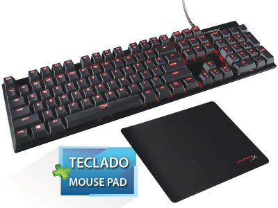 Teclado Gamer Hyperx  Mecânico Alloy Fps Cherry Mx + Mouse Pad