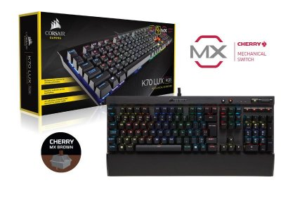 Teclado Gamer Corsair K70 Lux Rgb Teclas Cherry Mx Brown
