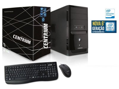 Computador Centrium Fastline Core I3-6100 3.7Ghz 4Gb Ddr4 500Gb Linux