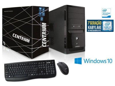 Computador Centrium Fasttop Core I3-7100 3.9Ghz 4Gb Ddr4 500Gb W10