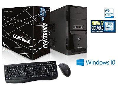 Computador Centrium Fasttop Core I3-6100 3.7Ghz 4Gb Ddr4 500Gb W 10 Pro
