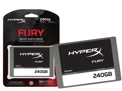 "Ssd Gamer Hyperx Fury 240Gb 2.5"" Sata Iii Blister"