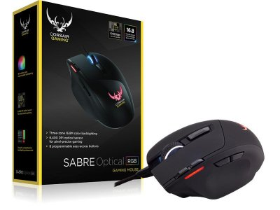 Mouse Gamer Corsair Sabre Rgb 10000Dpi Optico Preto