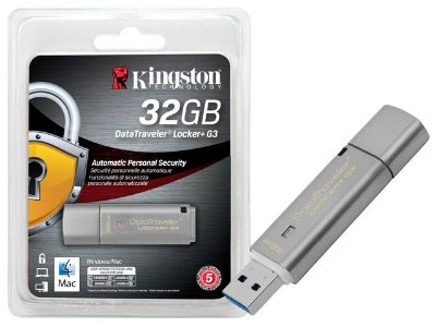 Pen Drive Criptografia Kingston Dtlpg3/32Gb Datatraveler 32Gb Locker+ G3 Usb 3.0