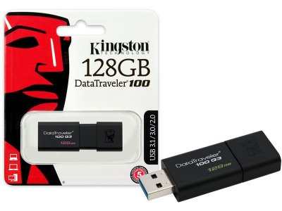 Pen Drive Usb 3.0 Kingston Dt100G3/128Gb Datatraveler 100 128Gb Generation 3