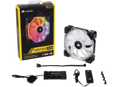 Cooler fan corsair hd120 led rgb High Performance 120 mm Co-9050066-Ww C/ controlador