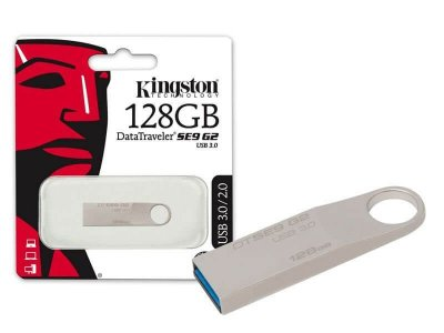 Pen Drive Usb 3.0 Kingston Dtse9G2/128Gb Datatraveler Se9 G2 128Gb Prata