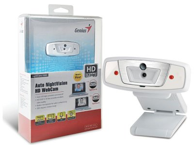 Webcam Genius 32200204101 Lightcam 1020 Hd720P Branca Microf.C/Aut.Ilum.Noturn