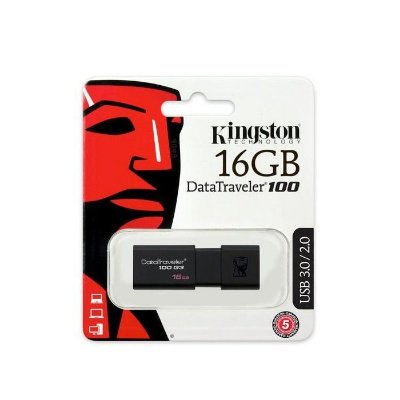 Pen Drive Kingston Datatraveler USB 3.0 16gb Preto - Dt100g3/16gb
