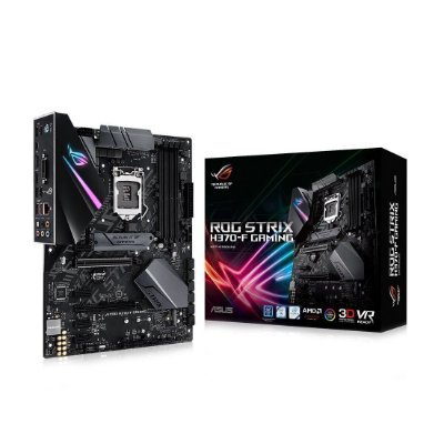 Placa mãe socket 1151 intel asus rog strix H370-f RGB aura sync ddr4 coffee lake