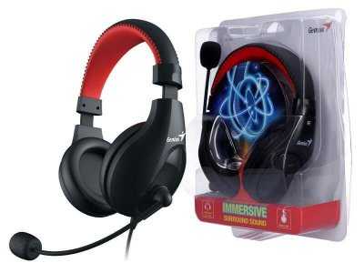 Headset Genius 31710203100 HS-520 preto