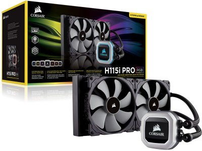 Water cooler corsair CW-9060032-WW h115i pro RGB radiador 280MM