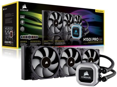 Water cooler corsair CW-9060031-WW h150i pro RGB radiador 360MM
