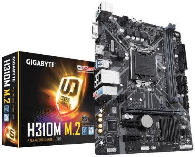 Placa mãe socket 1151 intel gigabyte ga h310m m2 ddr4 coffe lake