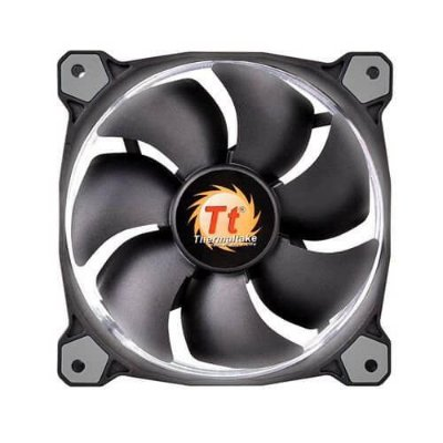 Cooler Fan Thermaltake Riing 120mm Led Branco 1500RPM CL-F038-PL12WT-A