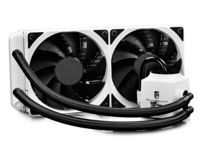 Water cooler Deepcool captain 240 ex branco RGB, DP-GS-H12L-CT240RGB-WH