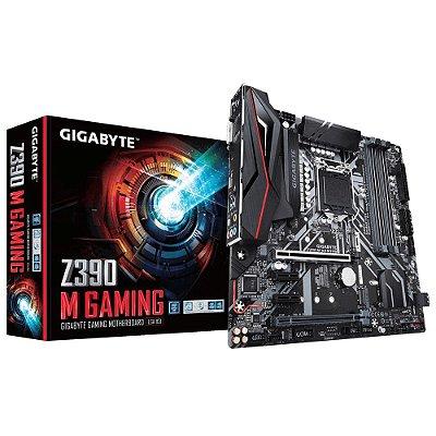 Placa mãe socket 1151 intel gigabyte z390 M gaming ddr4 8º-9º geração