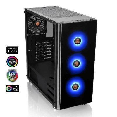 Gabinete Gamer Thermaltake V200 Tempered Glass RGB Mid Tower, CA-1K8-00M1WN-01