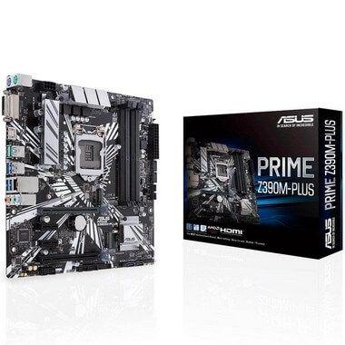 Placa mãe socket 1151 intel asus Prime Z390m-Plus ddr4 8ª - 9ª geração