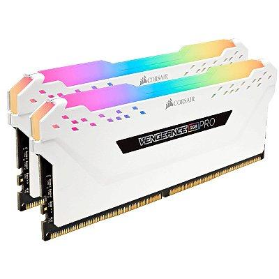 Memória Desktop Gamer Ddr4 Corsair RGB 32Gb 3000Mhz, CMW32GX4M2C3000C15W