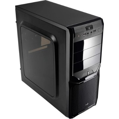 Gabinete Gamer midi tower V3X window Aerocool preto
