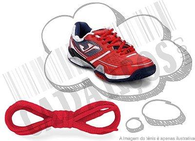 Cadarço de Tênis Vermelho Oval Pol 120cm (Par)