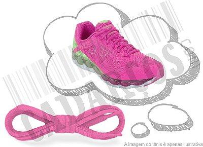 Cadarço de Tênis Rosa Oval Pol 120cm (Par)