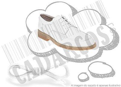 Cadarço de Sapato Branco Redondo Pol 60cm (Par)