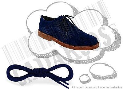 Cadarço de Sapato Azul Escuro Redondo Pol 90cm (Par)