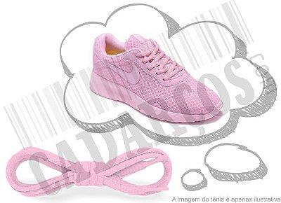 Cadarço de Tênis Rosa Bebê Oval Pol 120cm (Par)
