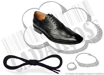 Cadarço de Sapato Preto Encerado Achatado Alg 60cm (Par)