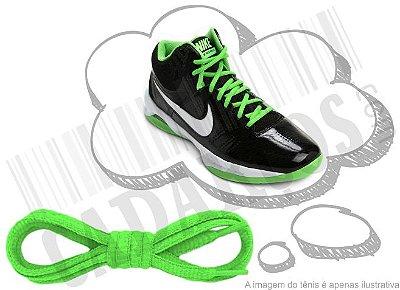 Cadarço de Tênis Verde Fluorescente Oval Pol (Par)