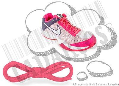 Cadarço de Tênis Rosa Florescente Oval Pol 120cm (Par)