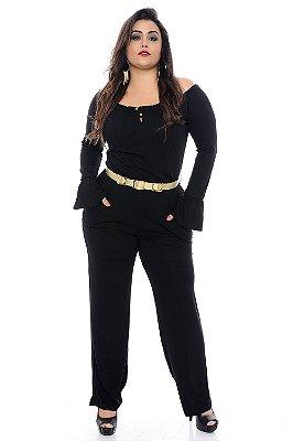 Macacão Plus Size Black
