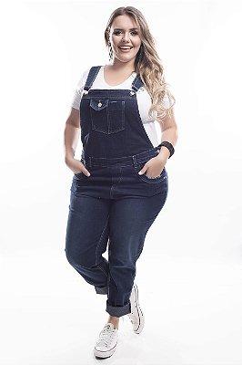 Jardineira Jeans Plus Size Lady