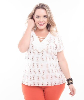 Blusa Plus Size Kate