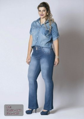 Calça Plus Size Flare Valentina