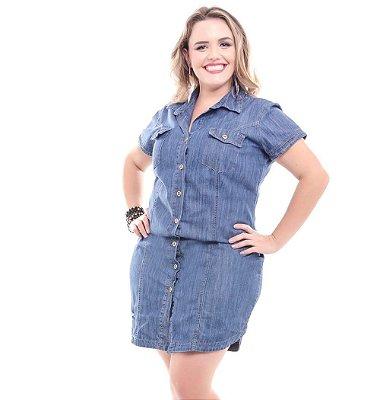 Vestido Plus Size Jeans Maitê