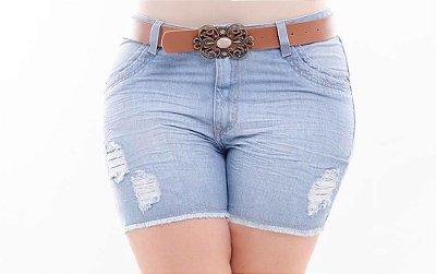 Shorts Plus Size Jeans Boyfit Delavê