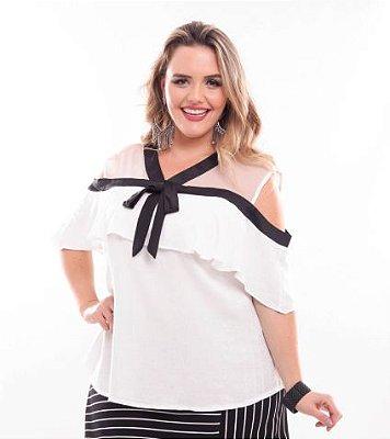 Blusa Plus Size Branca Liz