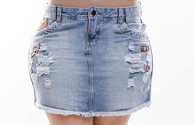 Saia Jeans Plus Size Patches