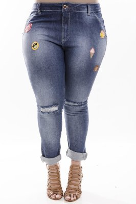 Calça Plus Size Patches