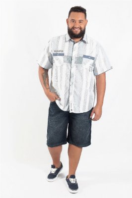 Bermuda Masculina Plus Size Jeans R. Augusto