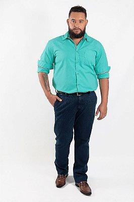 Calça Masculina Plus Size Jeans Canelada