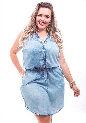 Vestido Plus Size Jeans Livia