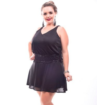 Vestido Plus Size Kiara Black