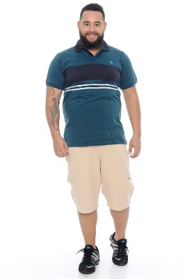 Polo Masculina Plus Size Diego